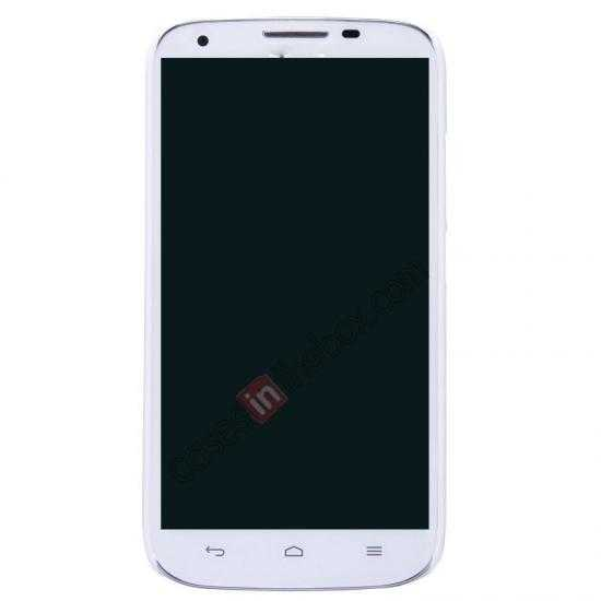 cheap Nillkin Super Frosted Shield Hard PC Case for Huawei B199 w/ Screen Protector - White