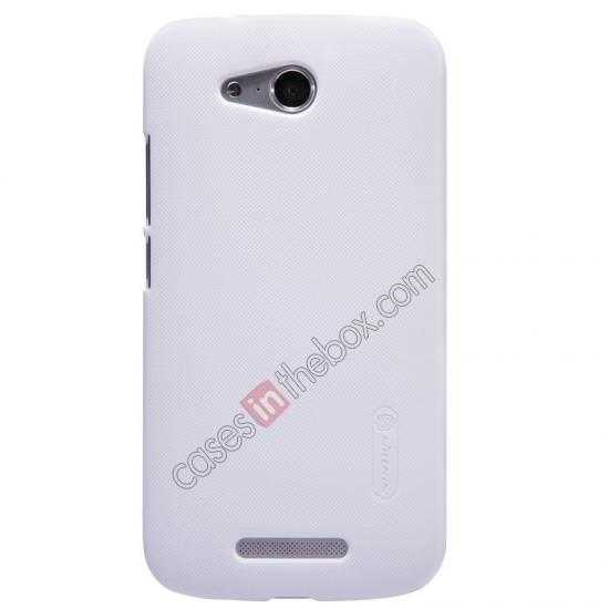 wholesale Nillkin Super Frosted Shield Hard PC Case for Huawei B199 w/ Screen Protector - White