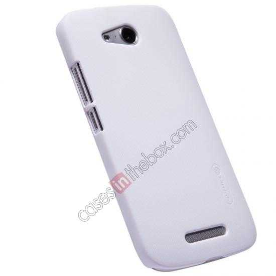 top quality Nillkin Super Frosted Shield Hard PC Case for Huawei B199 w/ Screen Protector - White