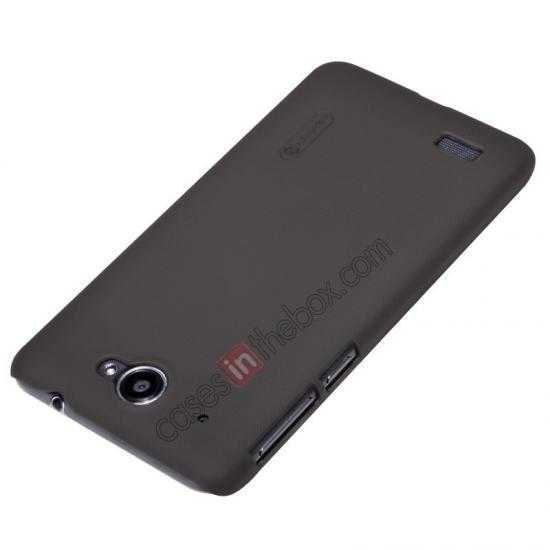 top quality Nillkin Super Frosted Shield Hard PC Case for Lenovo S939 w/ Screen Protector - Brown