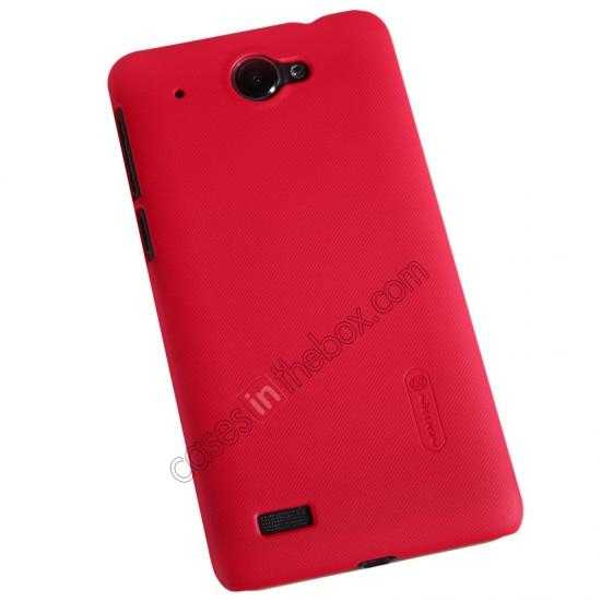 top quality Nillkin Super Frosted Shield Hard PC Case for Lenovo S939 w/ Screen Protector - Red