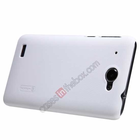 best price Nillkin Super Frosted Shield Hard PC Case for Lenovo S939 w/ Screen Protector - White