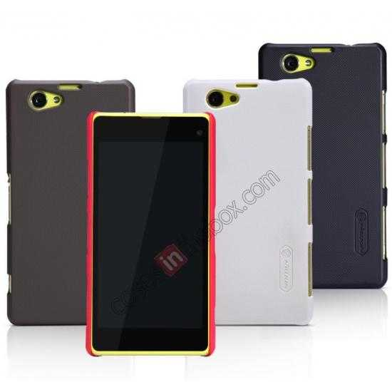 wholesale Nillkin Super Frosted Shield Hard PC Case for Sony Xperia Z1 Compact(M51W) w/ Screen Protector