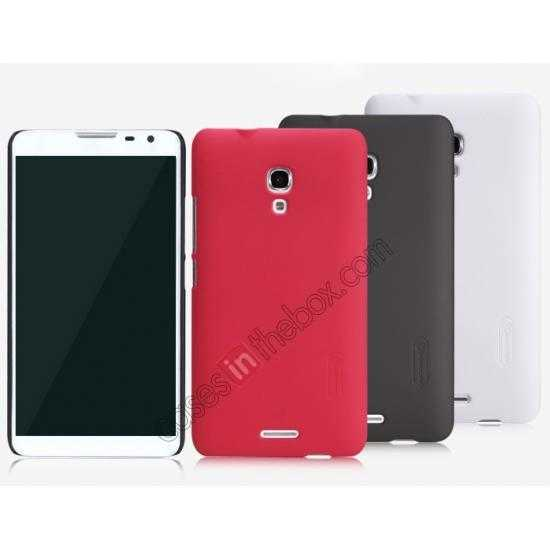 on sale Nillkin Super Frosted Shield Plastic Back Case Cover for HUAWEI MATE 2 - Red
