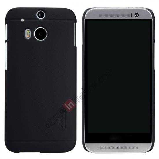 wholesale Nillkin Super Frosted Shield Plastic Cover Case for HTC One 2 M8 - Black