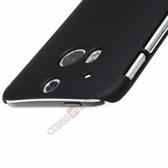 discount Nillkin Super Frosted Shield Plastic Cover Case for HTC One 2 M8 - Black
