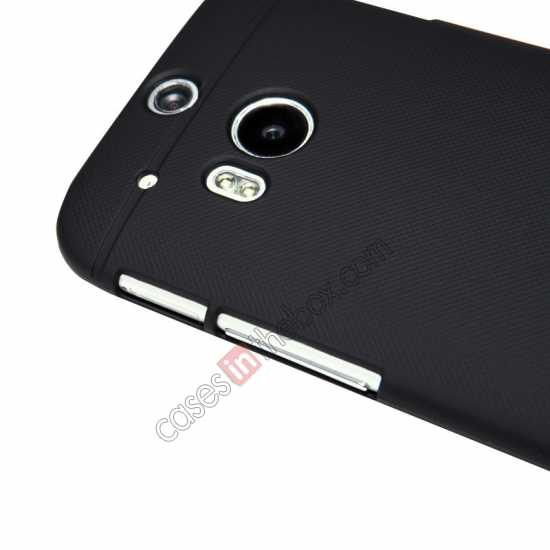 cheap Nillkin Super Frosted Shield Plastic Cover Case for HTC One 2 M8 - Black