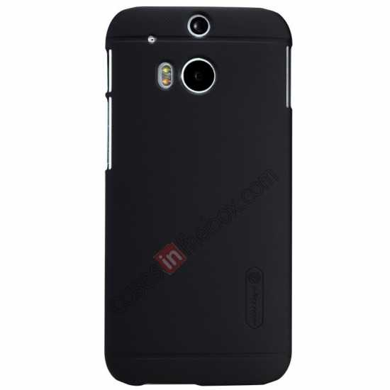 best price Nillkin Super Frosted Shield Plastic Cover Case for HTC One 2 M8 - Black