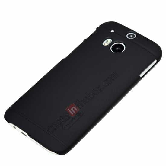 on sale Nillkin Super Frosted Shield Plastic Cover Case for HTC One 2 M8 - Black