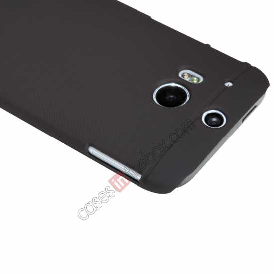 best price Nillkin Super Frosted Shield Plastic Cover Case for HTC One 2 M8 - Brown