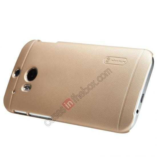 discount Nillkin Super Frosted Shield Plastic Cover Case for HTC One 2 M8 - Golden