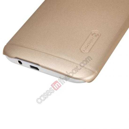 top quality Nillkin Super Frosted Shield Plastic Cover Case for HTC One 2 M8 - Golden