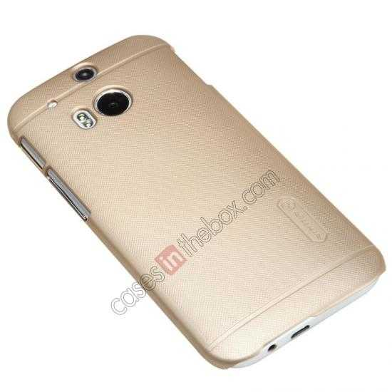 on sale Nillkin Super Frosted Shield Plastic Cover Case for HTC One 2 M8 - Golden