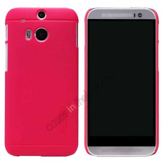wholesale Nillkin Super Frosted Shield Plastic Cover Case for HTC One 2 M8 - Red