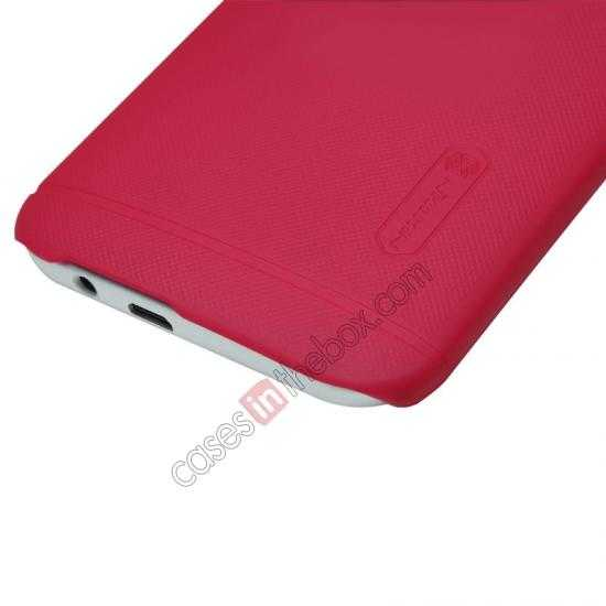 cheap Nillkin Super Frosted Shield Plastic Cover Case for HTC One 2 M8 - Red