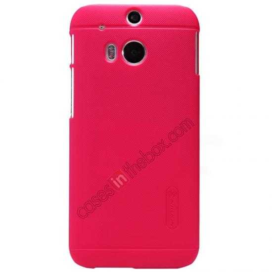 top quality Nillkin Super Frosted Shield Plastic Cover Case for HTC One 2 M8 - Red