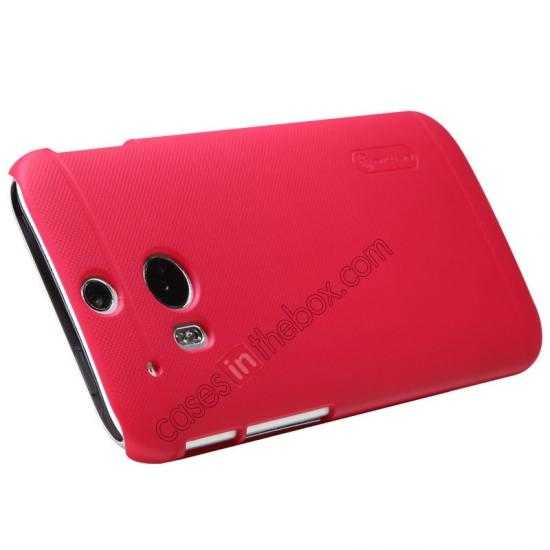 best price Nillkin Super Frosted Shield Plastic Cover Case for HTC One 2 M8 - Red