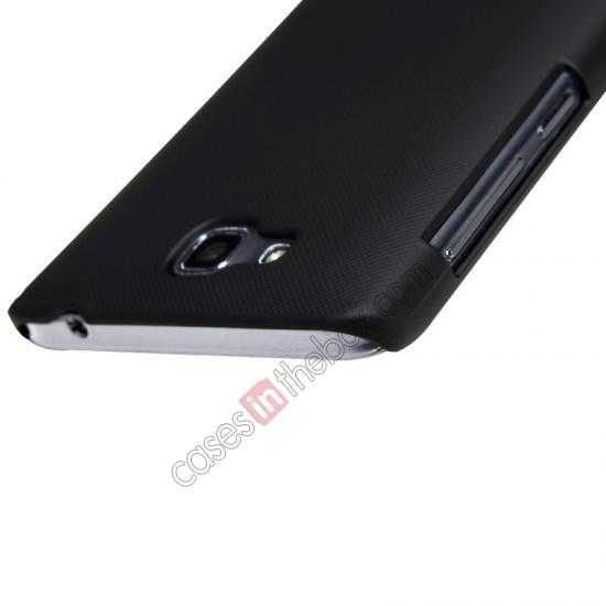 cheap Nillkin Super Frosted Shield Plastic Cover Case for HUAWEI C8816 - Black