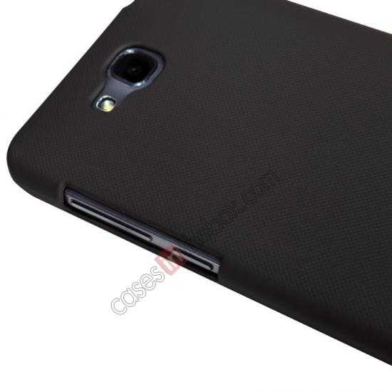 top quality Nillkin Super Frosted Shield Plastic Cover Case for HUAWEI C8816 - Brown