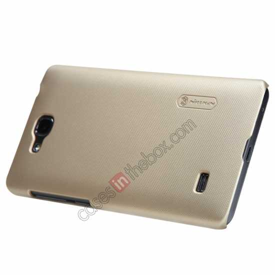 discount Nillkin Super Frosted Shield Plastic Cover Case for HUAWEI C8816 - Gold