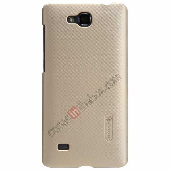 wholesale Nillkin Super Frosted Shield Plastic Cover Case for HUAWEI C8816 - Gold