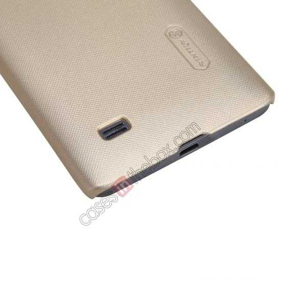 cheap Nillkin Super Frosted Shield Plastic Cover Case for HUAWEI C8816 - Gold