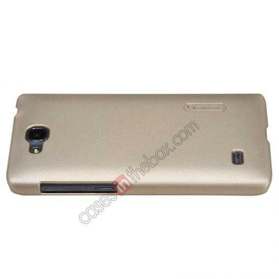 best price Nillkin Super Frosted Shield Plastic Cover Case for HUAWEI C8816 - Gold