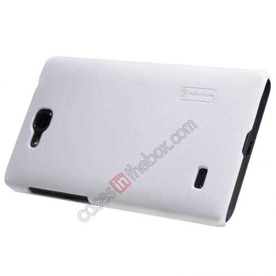 discount Nillkin Super Frosted Shield Plastic Cover Case for HUAWEI C8816 - White