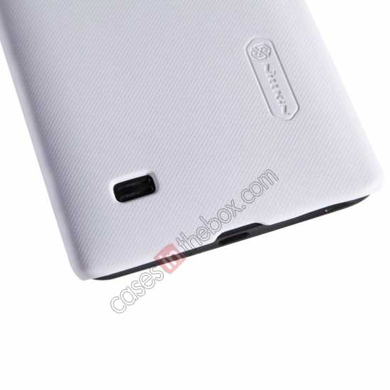 best price Nillkin Super Frosted Shield Plastic Cover Case for HUAWEI C8816 - White