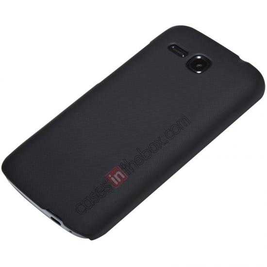 cheap Nillkin Super Frosted Shield Plastic Cover Case for HUAWEI Y600 - Black