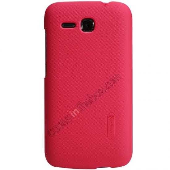 wholesale Nillkin Super Frosted Shield Plastic Cover Case for HUAWEI Y600 - Red
