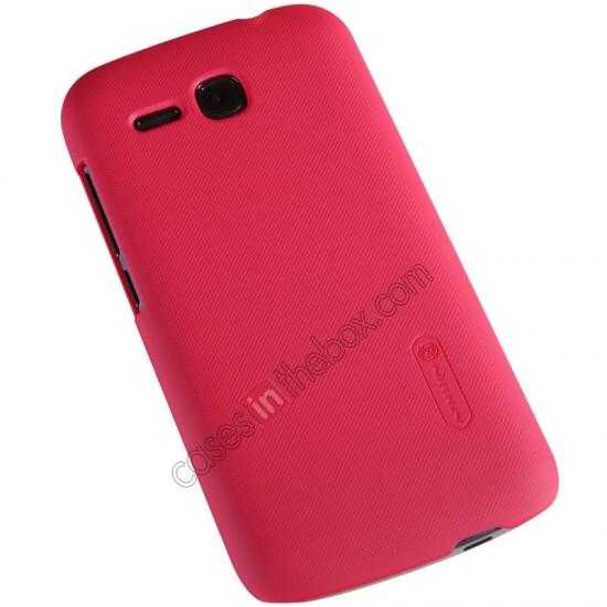 cheap Nillkin Super Frosted Shield Plastic Cover Case for HUAWEI Y600 - Red