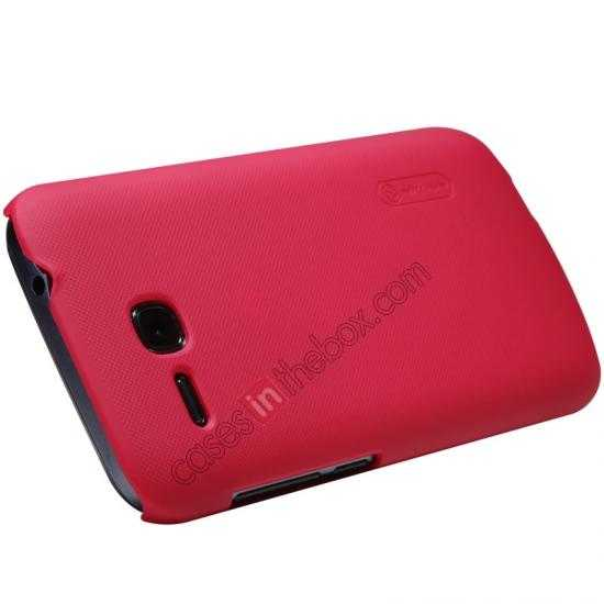 top quality Nillkin Super Frosted Shield Plastic Cover Case for HUAWEI Y600 - Red