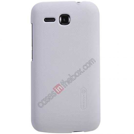wholesale Nillkin Super Frosted Shield Plastic Cover Case for HUAWEI Y600 - White
