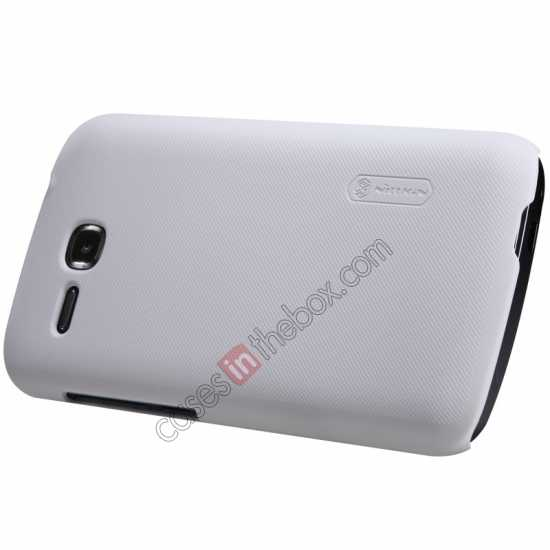 discount Nillkin Super Frosted Shield Plastic Cover Case for HUAWEI Y600 - White