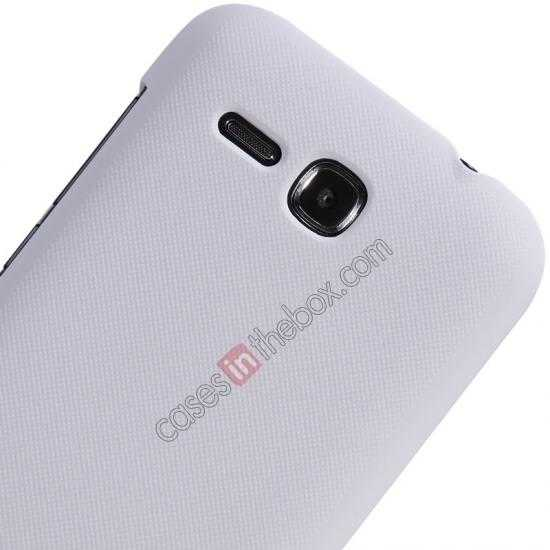 cheap Nillkin Super Frosted Shield Plastic Cover Case for HUAWEI Y600 - White