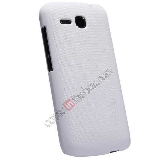 best price Nillkin Super Frosted Shield Plastic Cover Case for HUAWEI Y600 - White