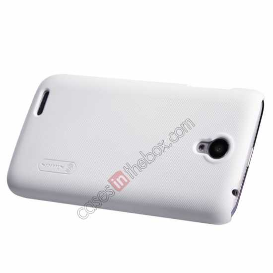cheap Nillkin Super Frosted Shield Plastic Cover Case for Lenovo S650 - White
