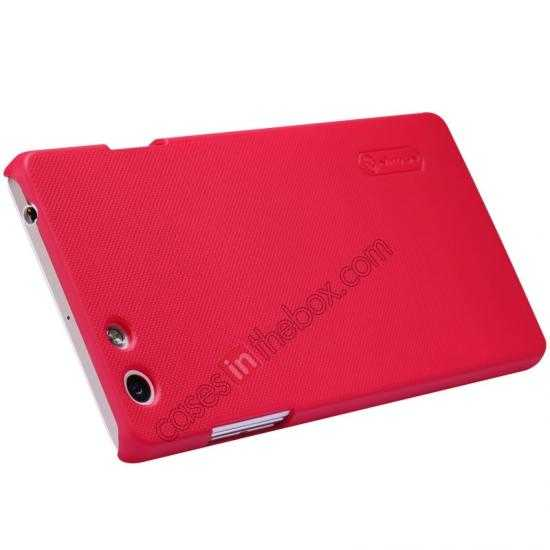 discount Nillkin Super Frosted Shield Plastic Cover Case for OPPO R1(R829T) - Red