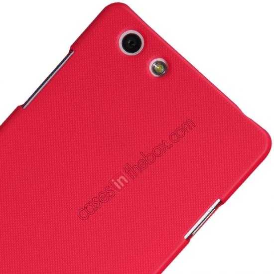 best price Nillkin Super Frosted Shield Plastic Cover Case for OPPO R1(R829T) - Red