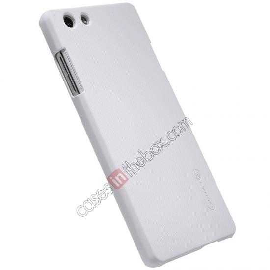 cheap Nillkin Super Frosted Shield Plastic Cover Case for OPPO R1(R829T) - White