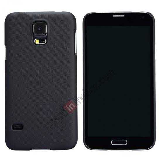 wholesale Nillkin Super Frosted Shield Plastic Cover Case for Samsung Galaxy S5 G900 - Black