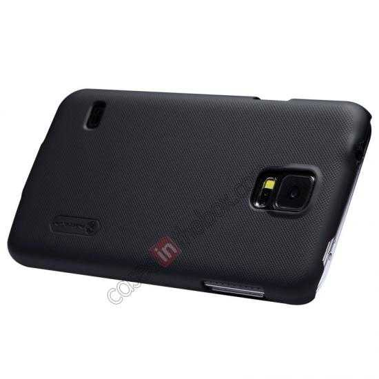 best price Nillkin Super Frosted Shield Plastic Cover Case for Samsung Galaxy S5 G900 - Black