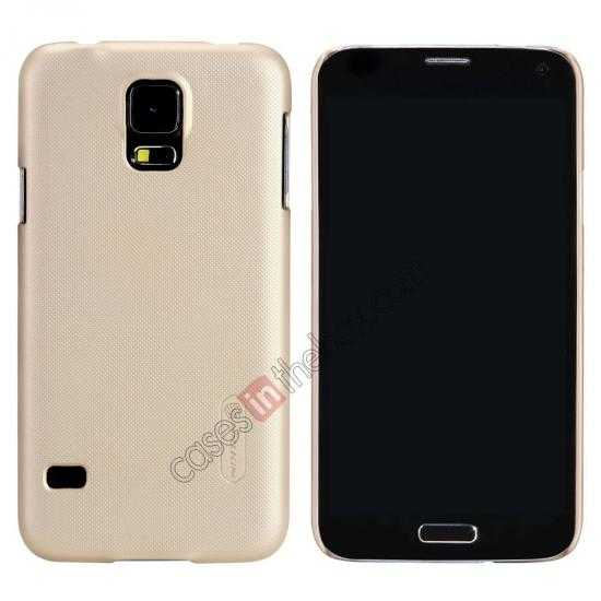 wholesale Nillkin Super Frosted Shield Plastic Cover Case for Samsung Galaxy S5 G900 - Golden