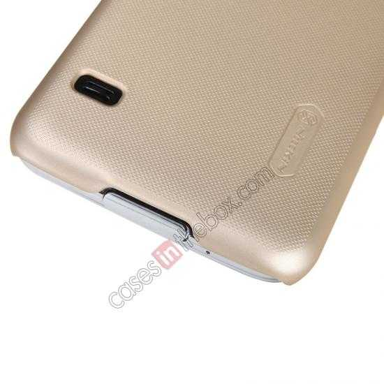 cheap Nillkin Super Frosted Shield Plastic Cover Case for Samsung Galaxy S5 G900 - Golden