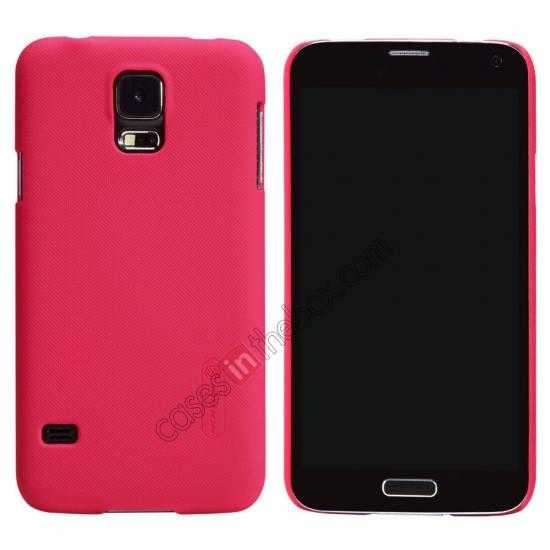 wholesale Nillkin Super Frosted Shield Plastic Cover Case for Samsung Galaxy S5 G900 - Red