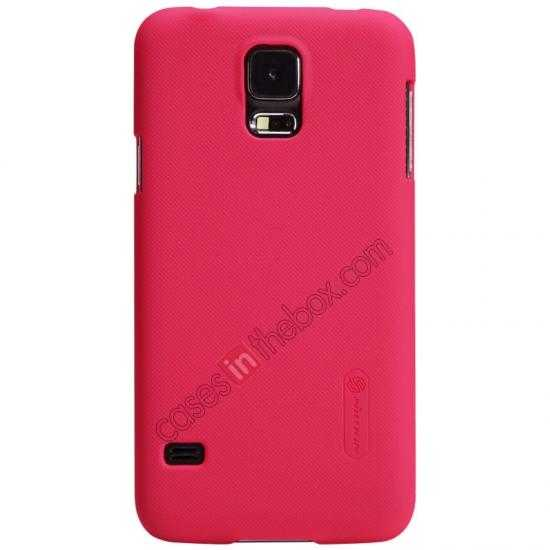 discount Nillkin Super Frosted Shield Plastic Cover Case for Samsung Galaxy S5 G900 - Red