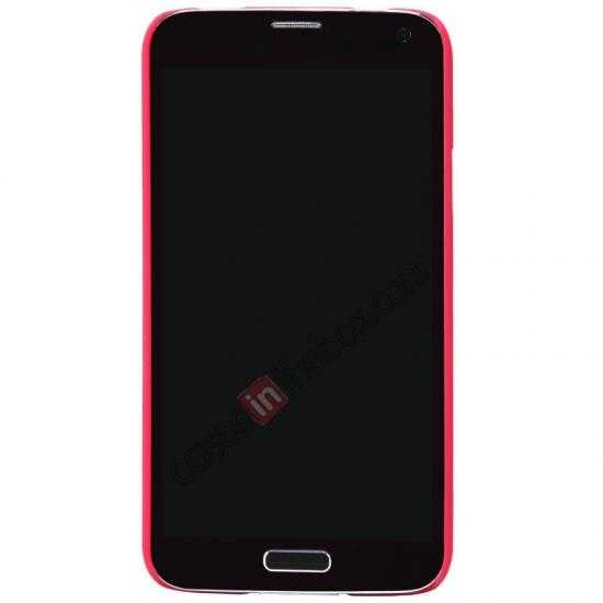 cheap Nillkin Super Frosted Shield Plastic Cover Case for Samsung Galaxy S5 G900 - Red