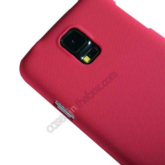 top quality Nillkin Super Frosted Shield Plastic Cover Case for Samsung Galaxy S5 G900 - Red