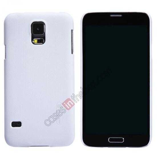 wholesale Nillkin Super Frosted Shield Plastic Cover Case for Samsung Galaxy S5 G900 - White